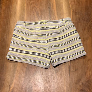 LOFT Shorts - Stripe black white and lime loft cotton shorts
